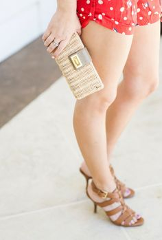 J.Crew straw clutch and strappy heels-Kacee from Life with Lipstick On