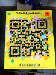 For the 10th edition of The Annual Year in Ideas, theNew York Times Magazine has created a special coverallowing smartphone users, to interact with a QR Codemade of balloons.