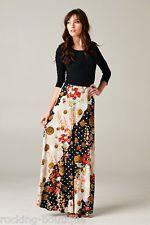 Floral Gold Multi Color Block Maxi Dress Boutique Fashion Tie in Back Round Neck