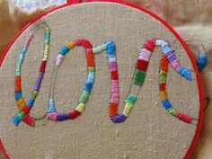 cursive.  by peregrine blue, via Flickr. I'd love to make one for each girl with her name on it like this.
