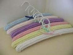 Knitting Pattern Lace Coathangers : Knitted coat hanger cover Clothes Hanger Covers ...