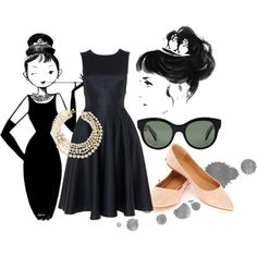 The Modern Audrey by peachypooja on Polyvore
