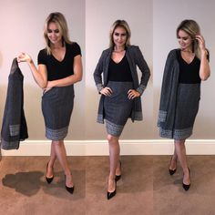 Be Office Ready with this stylish pencil skirt & jacket from Contempo Retail Stores. Retail Stores, Casual Wear, Career, Pencil, Formal, Stylish, Skirts, Jackets, Clothes