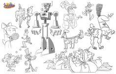Processo criativo, model sheet de Ernie Gilbert - que desenha, entre outros, os Padrinhos Mágicos
