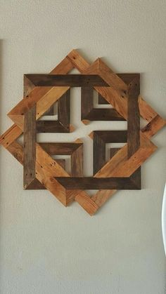 Unique Wooden Wall Decor Art Ideas For Your Home - Savvy Ways About Things Can Teach Us : The paneled wall is strikingly bold and I like the additional dimension it increases the space. As a boring or empty wall is similar to a canvas which. Reclaimed Wood Wall Art, Wooden Wall Decor, Wooden Wall Art, Wooden Walls, Wall Art Decor, 2x4 Wood, Wood Stain, Wooden House, Diy Wood Projects