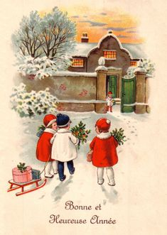 Postcard Three children and their sledge Old greetings card 2019 – Christmas Ideas Funny Christmas Cards, Christmas Scenes, Christmas Mood, Vintage Christmas Cards, Vintage Cards, Kids Christmas, Christmas Pictures, Holiday Cards, Old Greeting Cards