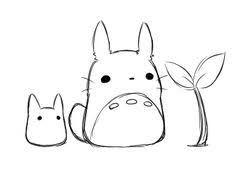 studio ghibli totoro my neighbor totoro ghibli films Kawaii Drawings, Easy Drawings, Easy Animal Drawings, Sweet Drawings, Easy Cartoon Drawings, Studio Ghibli, Chibi Totoro, Totoro Drawing, Dibujos Cute