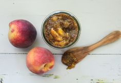 Peach Chia Jam | http://nutritionstripped.com - really good! didn't bother peeling peaches, used an immersion blender but left some chunks of fruit
