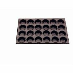 """Vogue Aluminum 24 Cup Muffin Tray Non-Stick Finish. Cup size: 3 3/16"""" (dia) x 1 7/16""""(D). by Vogue. $39.99. Can be used for muffins, yorkshire puddings etc. Tray size: 14 x 20 1/2. Mould size: 1.4(D) x 3.2(dia)."""