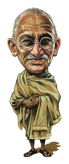 Mahatma Gandhi Art Print by Art . All prints are professionally printed, packaged, and shipped within 3 - 4 business days. Mahatma Gandhi, Funny Caricatures, Celebrity Caricatures, Famous Art, Famous Faces, Caricature Drawing, Charles Darwin, Influential People, Salvador Dali