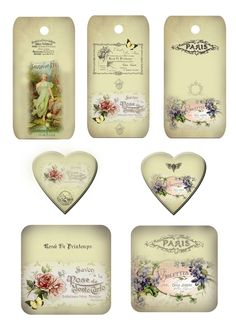Free Printables~ Lovely French tags {personal use only}