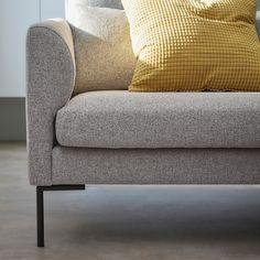 BARKTORP 3:n istuttava sohva - harmaa, 4-kulmainen musta - IKEA 60 Kg, Ikea, Love Seat, Couch, Furniture, Home Decor, Products, Settee, Decoration Home