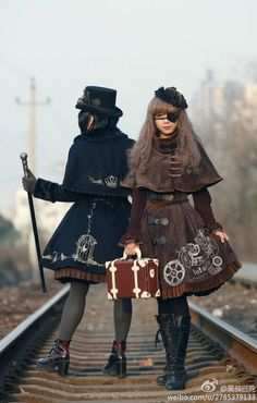 Infanta - Steampunk Lolita. THis seriously happened? O.o please excuse me while I go clean out my closet to make room. Check out the website to see more #steampunkfashion,