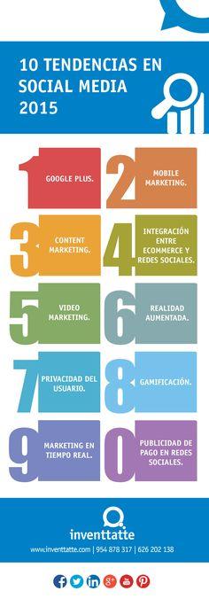 Hola: Una infografía con 10 tendencias en Redes Sociales para 2015. Vía Un saludo