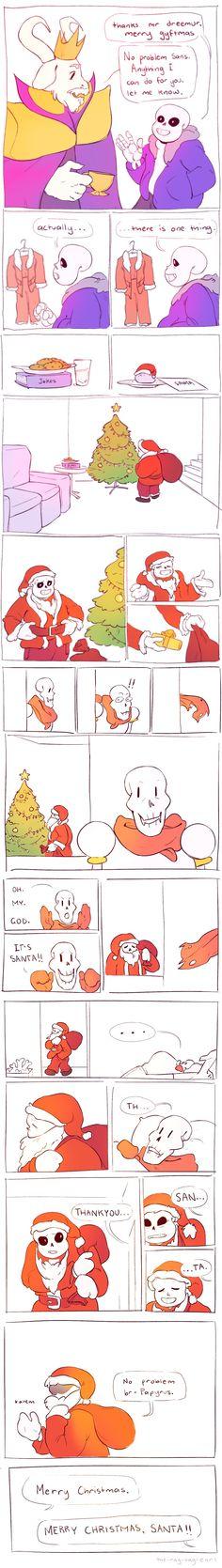 Sans and Papyrus - comic - Christmas