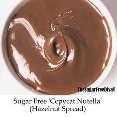 An easy and delicious Sugar Free Copycat Nutella Recipe Recipe For Sugar Free Banana Bread, Sugar Free Peanut Butter Cookies, Sugar Free Carrot Cake, Sugar Free Nutella, Sugar Free Fudge, Sugar Free Deserts, Banana Nut Bread, Sugar Free Recipes, Strawberry Poke Cakes