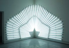 Yochai Matos is a multidisciplinary artist based in Tel Aviv that creates brilliant art installations using fluorescent light bulbs.  More art installations via Design You Trust