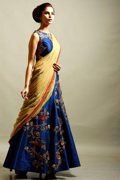 #Lehenga#Wedding collection..#Beautiful#Blue #Embroidered#Spring#Summer collection..
