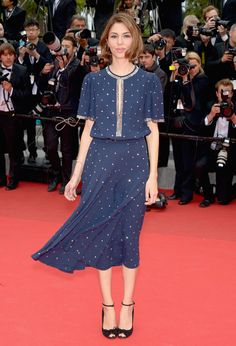 Sofia Coppola en robe Michael Kors printemps-été 2014 http://www.vogue.fr/sorties/on-y-etait/diaporama/les-plus-belles-robes-du-festival-de-cannes-2014/18787/image/1002077