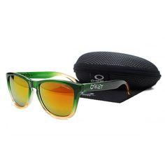 Oakley Frogskins Sunglasses Light Green Orange