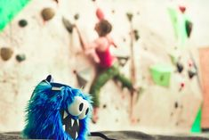 Blue Five Tooth Monster Chalk Bag by Crafty Climbing @craftyclimbing