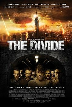 The Divide (2012)  Milo Ventimiglia Michael Eklund Ashton Holmes Studio:Anchor Bay Films Genre:Drama, Sci-Fi, Thriller Runtime:2 hours 01 minute In this graphic and violent, post-apocalyptic thriller, nine strangers-all tenants of a New York high rise apartment-escape a nuclear attack by hiding out in the building's bunker-like basement. Trapped for days underground with no hope for rescue, and only unspeakable horrors awaiting them on the other side of the bunker door