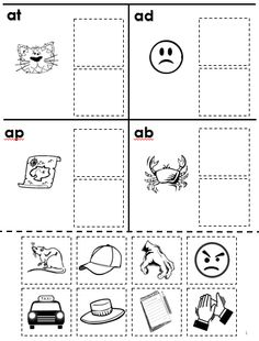 Free Rhyming Cut and Paste Worksheet--Phonological Awareness, Voiced and Unvoiced Word Families