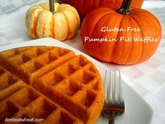 Gluten Free Pumpkin Pie Waffles (Gluten Free Breakfast)
