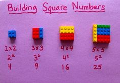 Building square numbers with Lego
