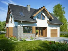 DOM.PL™ - Projekt domu FA Telimena CE - DOM GC6-29 - gotowy koszt budowy Small House Design, Design Case, New Builds, House Plans, Shed, Exterior, Outdoor Structures, Building, Modern