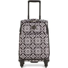 "Vera Bradley 22"" Spinner Suitcase ($300) ❤ liked on Polyvore featuring bags, luggage and concerto"