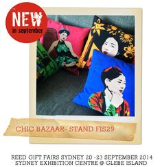 New Product: See Chic Bazzaar at Reed Gift Fairs Sydney September Stand FIS29 http://www.reedgiftfairs.com.au/en/Exhibitors/445714/Chic-Bazaar