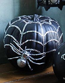 Bling spider pumpkin