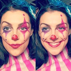 Clown makeup. Clown costume. Clown couple. Pretty clown makeup. Special effects makeu. Scary clown makeup . Cute clown makeup. Cute clown costume. Glitter clown makeup. Halloween makeup. DIY clown makeup. DIY Halloween makeup. Cool Halloween makeup . Scary Halloween makeup. Pretty Halloween makeup. Clown face paint