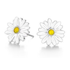 Origami Owl Custom Jewelry SILVER DAISY STUD EARRINGS WITH SWAROVSKI CRYSTALS Seasonal Exclusive  $18.00