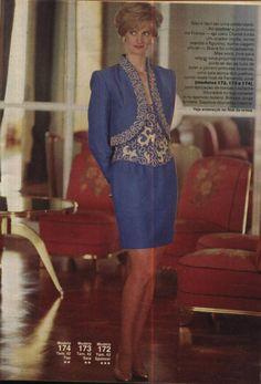 Lady Diana = Revista Manequim Nº 381 = Moda Crinça E Floral (she look almost like the real princess diana !!)