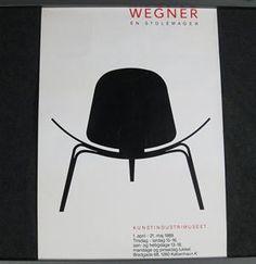 Lauritz.com - Graphic arts - Design Möbel Plakat, Wegner en Stolemager 1989 - DE, Düsseldorf, Kappeler Straße