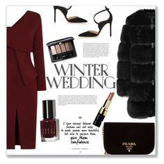 """""""Winter Wedding"""" by turtle03 ❤ liked on Polyvore featuring Anja, Bobbi Brown Cosmetics, Gianvito Rossi, Givenchy, Guerlain and Prada"""