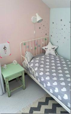diy-fai da te-stelle dipinte parete-camera bimbi