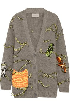 BLOGGED: Christopher Kane applique cardi for in-between seasons