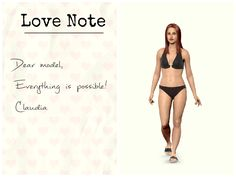 """""""Dear model, Everything is possible! Claudia   """" #motivation #goals #love #note"""