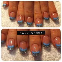 sky blue by nail_candy - Nail Art Gallery nailartgallery.nailsmag.com by Nails Magazine www.nailsmag.com #nailart
