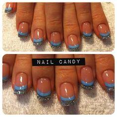 sky blue by nail_candy - Nail Art Gallery nailartgallery.nailsmag.com by Nails Magazine www.nailsmag.com #nailart