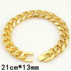 Men Bracelet Cuban Links Chains Silver Stainless Steel Bracelet Bangle Male Accessories