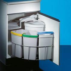 Afvalsysteem CABBI 39 liter DRAAIBAAR inbouw (achter draaideur) - KAST & KEUKEN