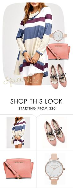 """""""dress"""" by masayuki4499 ❤ liked on Polyvore featuring Boden, MICHAEL Michael Kors and Olivia Burton"""