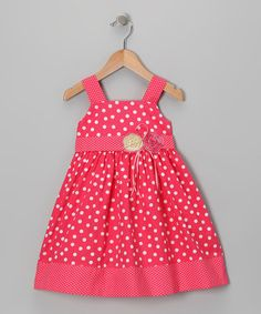 Take a look at this Pink Polka Dot Dress - Infant, Toddler & Girls by Sam de Fleur on #zulily today! $13.49