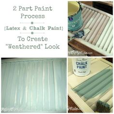 2 part paint process for weathered look