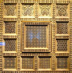 (15th Century India)  Sultanate carved sandstone.  Museum of Islamic Art, Doha, Qatar