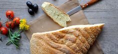 """""""Lagana"""" is a traditional flatbread usually baked for Clean Monday, the first day of Great Lent before Easter. Freshly Baked, How To Make Bread, Bread Baking, Food And Drink, Health, Ethnic Recipes, Lent, Basket, Places"""